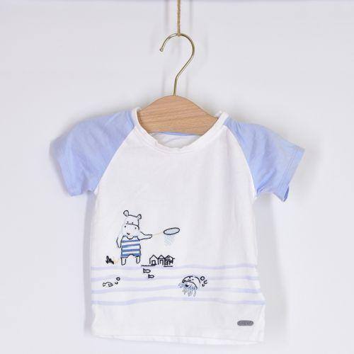 Bílo-modré triko Marks & Spencer, vel. 80