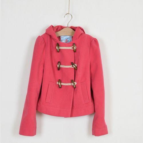 Růžový kabát do pasu New Look, vel. 164
