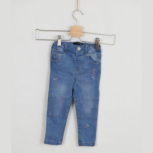 Modré jeans s výšivkou Primark, vel. 86